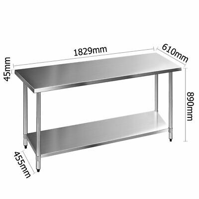 Adjustable Commercial Kitchen Bench Stainless Steel Food Shelves Work Table