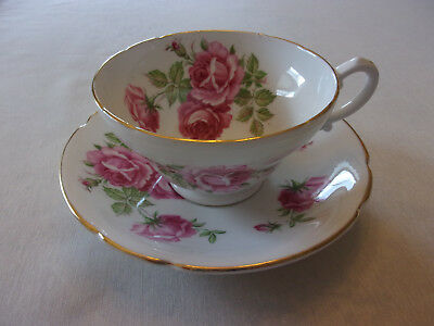 Stanley Fine Bone China Tea Cup and Saucer Set Pink Rose Pattern Made in England