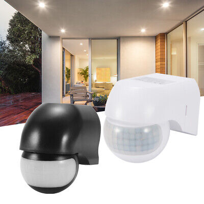 PIR Infrared Sensor Motion Switch Wall Mount Automatic Light Control White/Black