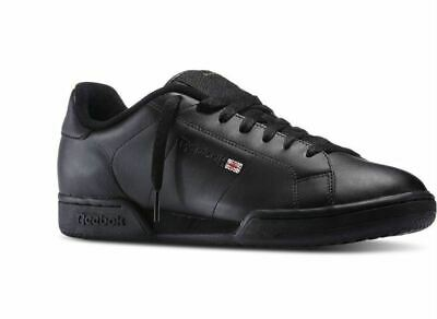 dbb82c4ec84a REEBOK NPC II New Port Classic 6836 Black Black Classic Leather Men ...