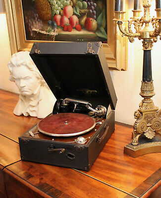 A Good Antique 1930s COLUMBIA Grafonola 202 Gramophone, Auto Break, GWO