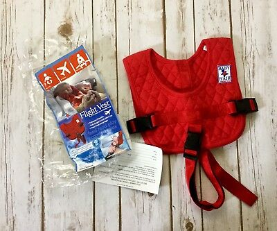 Baby B'Air Flight Safety Vest Harness Airplane Bair Red Size Toddler