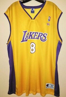 Kobe Bryant  8 Champion Mens Los Angeles Lakers Jersey Size 48 XL Vintage e11840d93