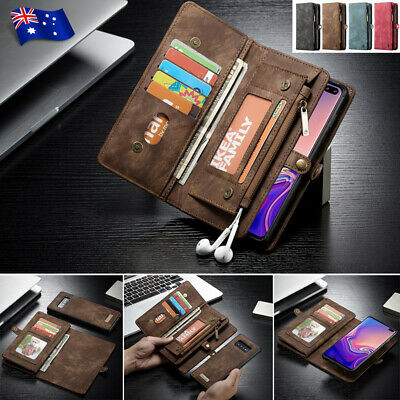 Samsung Galaxy Note 10 5G S10 S9/8 Plus Removable Leather Flip Wallet Case Cover