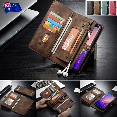 Samsung Galaxy S10 5G S9 S8 Plus Note 9 Removable Leather Flip Wallet Case Cover