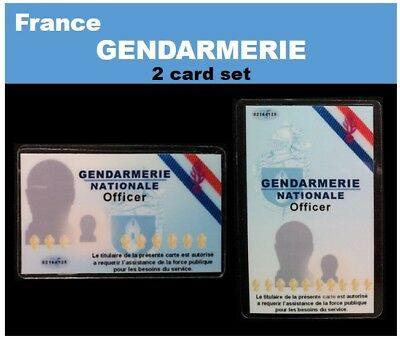 international ID collection...FRENCH... 2 Card Set...<<GENDARMERIE>>