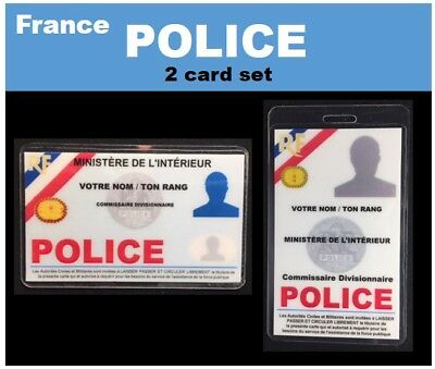 international  ID collection..FRENCH... 2 Card Set.. <<<POLICE>>>