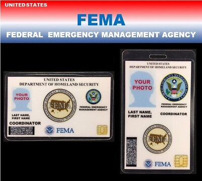 international ID collection..USA 2 card SET...<<FEMA>>