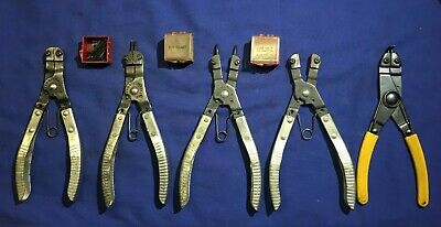 5 pair of Snap Ring Pliers 4 KD Tools with bits (2) KD446 & (2) KD445