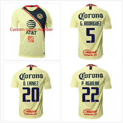 26d9b8945 NEW 2018-19 Club America Home Soccer Jersey Men Shirt Custom name number S-