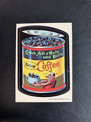 1973 Topps Wacky Packages 1st Series Chock Full Of Nuts STICKER NEAR MINT