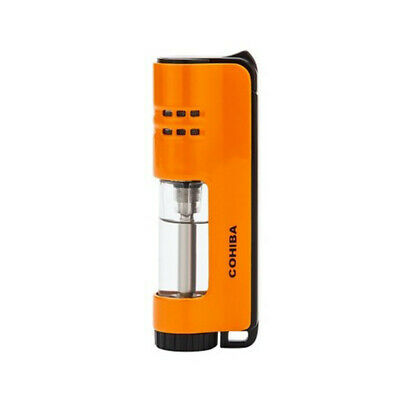 COHIBA Yellow Single Torch Jet Flame Cigar Cigarette Lighter Windproof