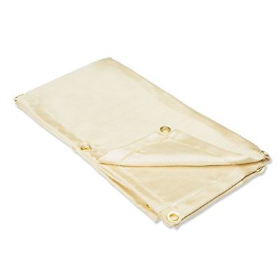 Neiko 10908A Heavy Duty Fiberglass Welding Blanket and Cover with Brass 4' x 6',