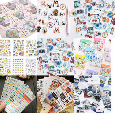 Lots 70pcs Novelty Stamps Stickers Stationery DIY Scrapbooking Diary Stickers