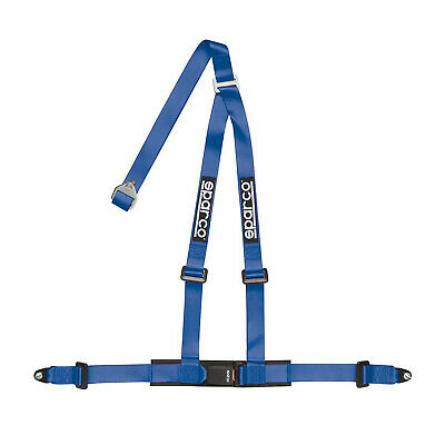 "Genuine Sparco 3 - point 2"" Safety Belts with standard bolts, blue"