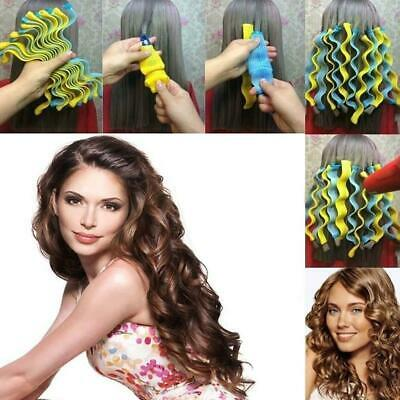 12Pcs/Set Magic Hair Curlers Curly Formers Spiral Ringlets Leverage Rollers 45cm