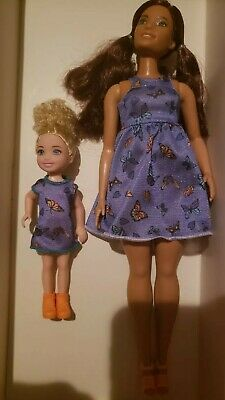 Barbie Fashionista #66  BEAUTIFUL Butterfly Curvy Doll & MATCHING CHELSEA DOLL