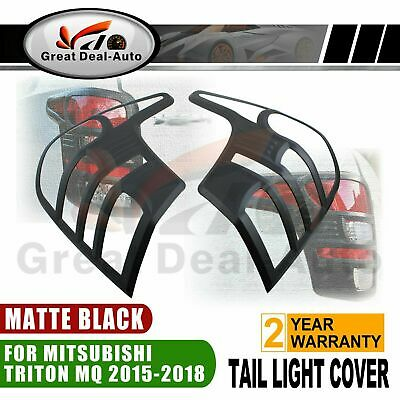 Fit Mitsubishi Triton MQ 2015-2018 Tail Light Cover Trim Matt Black