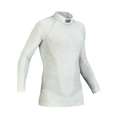 OMP ONE MY14 White Longsleeve Top (FIA) - Genuine - M/L