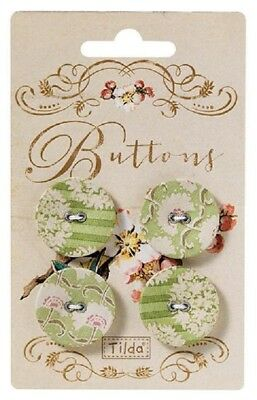 SALE Tilda Apple Bloom Fabric Cover Buttons 25mm