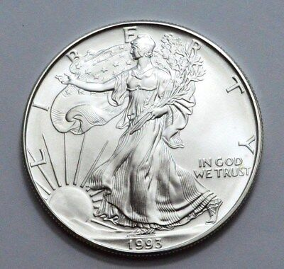 1993 American Silver Eagle Dollar 1 oz .999 Fine Silver, Uncirculated !