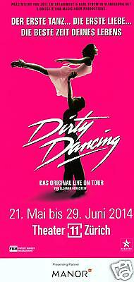 Dirty Dancing - Theater 11 Zürich - Original Musical Flyer 2014