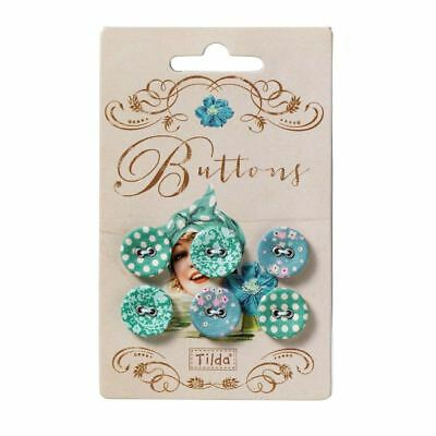 SALE Tilda Spring Lakes Fabric Cover Buttons 17mm