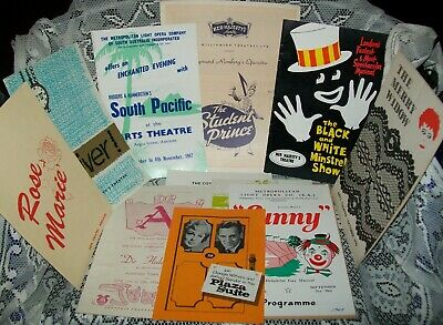 12 x VINTAGE ADELAIDE THEATRE PROGRAMS 1956-1976 (Her Majesty's, Arts + others)