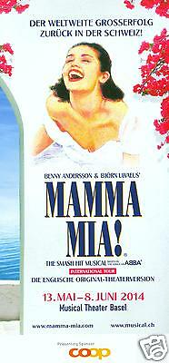 Abba - Mamma Mia! Orig. Musical Flyer - 2014 Basel Switzerland