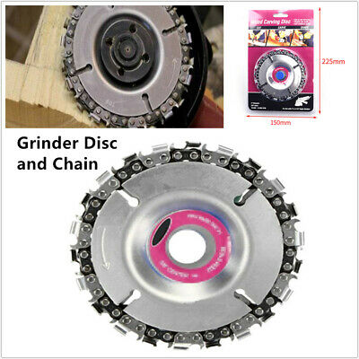 "Grinder Disc &Chain Wood Carving Saw Blade for 4""/ 4-1/2"" Angle Grinder 22 Tooth"