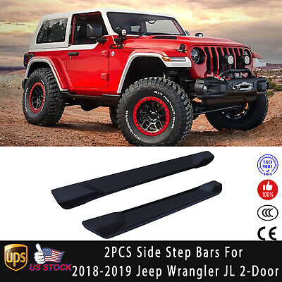 Side Steps Running Board Nerf Bars for 2018-2019 Jeep Wrangler JL 2 DRS OE STYLE