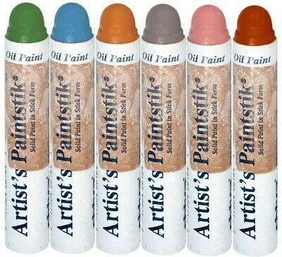 Shiva Artists Paint stick Set 6 Colours Oil Paint - Made in USA Paints Paintstik