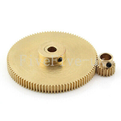 0.5M100-20T Module 0.5 Motor Metal Gear Wheel Set Kit Ratio 5:1 Wheelbase 30mm