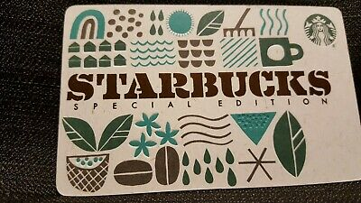 NEW 2019 Starbucks SPECIAL EDITION RECYCLED BURLAP Gift Card. No $ Value.