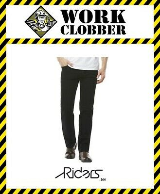 Riders By LEE Classic Straight Stretch Black Jeans 58032 NEW!