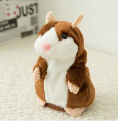 Talking Hamster Cute Nod Mouse Record Chat Mimicry Pet Plush Toy Xmas Gift
