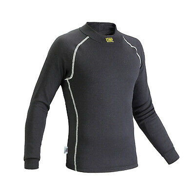 OMP CLASSIC S black Longsleeve Top (FIA) - Genuine - XL