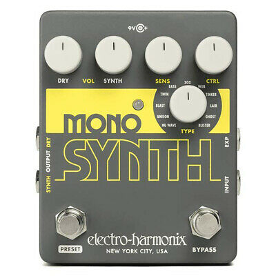 Electro Harmonix Mono Synth Synthesizer Guitar Effect Pedal