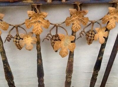Rustic Solid Iron Gate - Beautiful And Rare Grape Vine Design