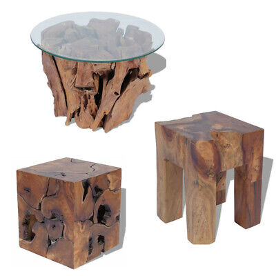 Unique Stool Wooden Chair Solid Coffee Table Footrest End Table Side Table