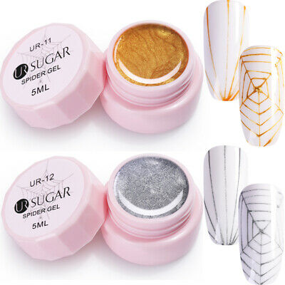 2Pcs UR SUGAR 5ml Spider UV Gel Polish Soak Off Nail Gel Elastic Drawing Gel #6