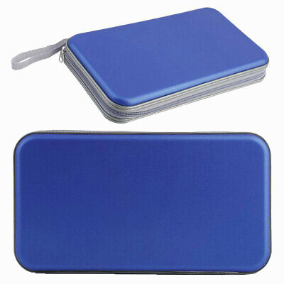 80 CD DVD Disc Carry Case Sleeve Holder Folder Bag with Zipper Blue