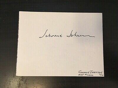 Johnnie Johnson - Wwii Fighter Pilot - Signed Autograph Album Page