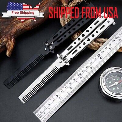Folding Tactical Practice Butterfly Knife Balisong Trainer Training Blunt Knife