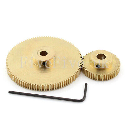 0.5M100-50T Module 0.5 Motor Metal Gear Wheel Set Kit Ratio 2:1 Wheelbase 37.5mm