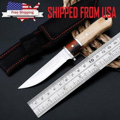 "6"" Fixed Blade Tactical Straight Military Pocket Hunting Survival Knife"