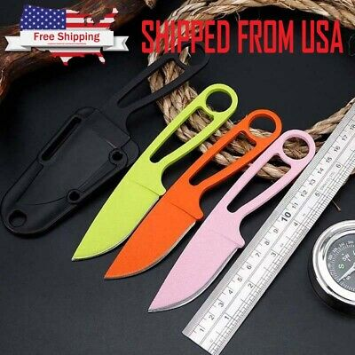 "6"" Small Fruit Knife Fixed Blade Straight Tactical Pocket Survival Outdoor Knife"