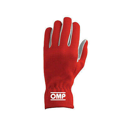 OMP NEW RALLY Red Racing Gloves - Genuine - L