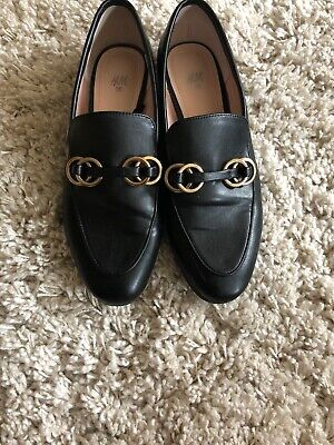 H&M Black Loafers Gucci Style Size 5