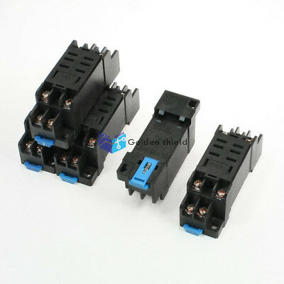 5Pcs DTF08A DIN Rail Mount 8Pin Relay Holder Socket Base for LY2-J 35mm